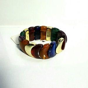 🆕Retro Multicolored stretch bangle